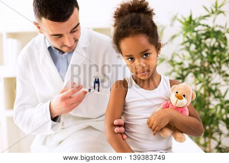 Vaccine to prevent healthy concept, healthcare children