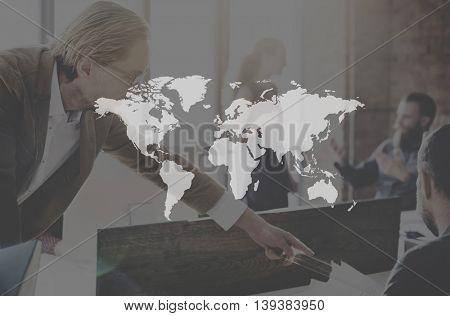 Worldwide Marketing Connection Logistics Business Concept