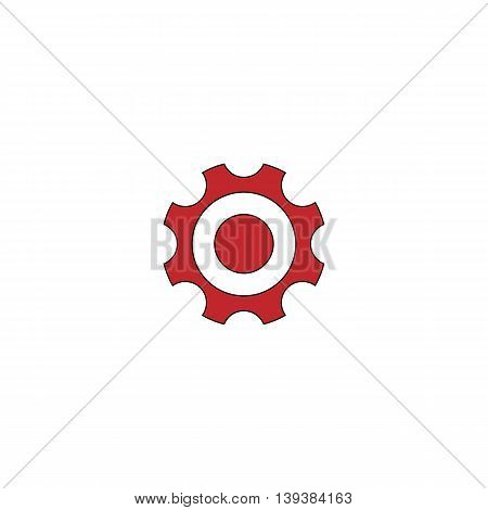 Bearing. Red flat simple modern illustration icon with stroke. Collection concept vector pictogram for infographic project and logo