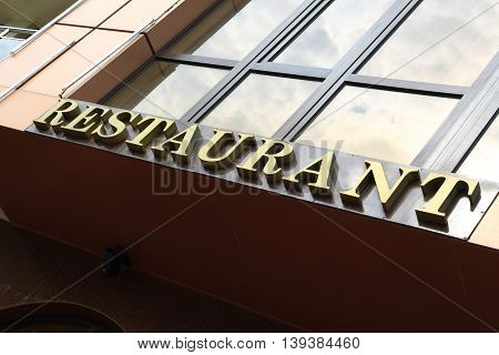 View Of Restaurant Sign