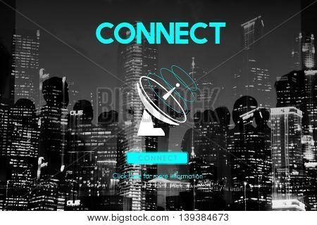 Communication Broadcast Connection Telecommunication Satellite Concept