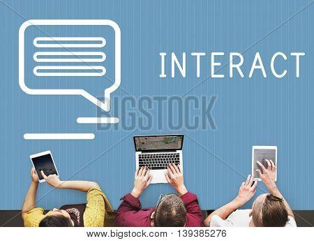 Chat Communication Online Blog Share Concept
