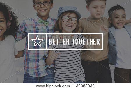 Better Together Friendship Teamwork Support Concept