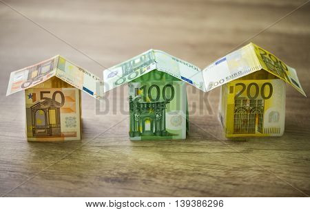 The Houses, Built Of Euro Banknotes