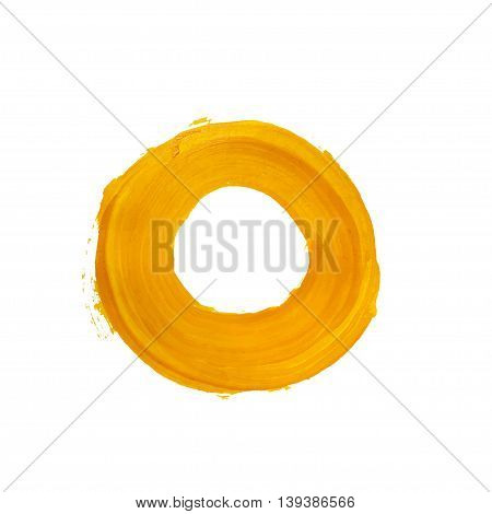 Yellow vector ring. Yellow vector acrylic circle. Element for different design