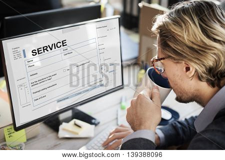 Service Agreement Contract Legal Document Concept