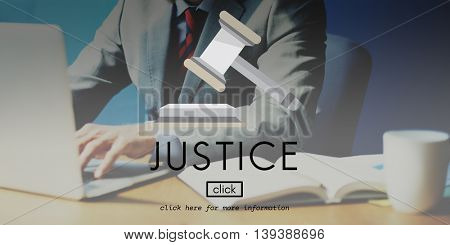 Justice Control Court Lawyer Legal Regulations Concept