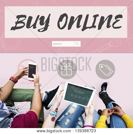 Buy Online Internet Shopping Store Concept
