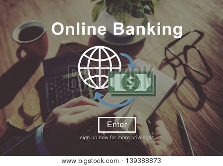 Online Banking Money Transaction System Concept