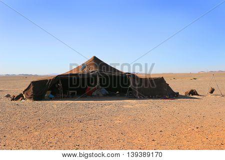 Berber Family In Tent, Sahara Desert, Morocco
