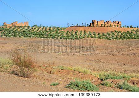 Kasbah In Morocco, Africa