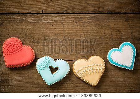 Beautiful Colored Hearts