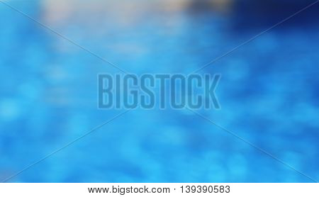 background of blue water in the pool water