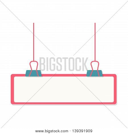 pink frame hanging on the office terminals with space to add text, Web analytics or promotion vector flat icons, element infographics,