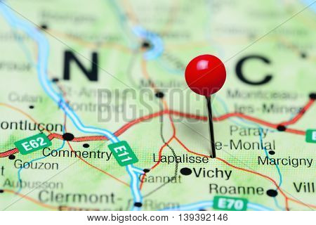 Lapalisse pinned on a map of France