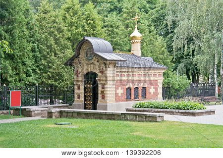 GOMEL REPUBLIC BELARUS - June 19.2016: Princely tomb chapel on the territory of the palace complex Paskevich