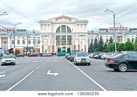 GOMEL REPUBLIC BELARUS - June 19.2016: The road to the city railway station
