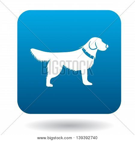 Dog icon in simple style isolated on white background