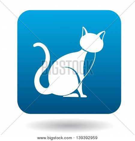 Cat icon in simple style isolated on white background