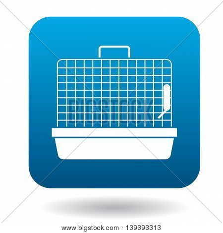 Rodent cage icon in simple style isolated on white background