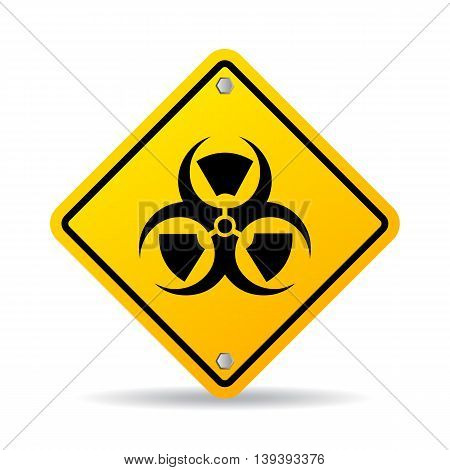Danger hazard sign isolated on white background