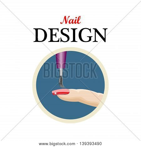 Icon nail designbeauty salonmanicure.Vector illustration on a white background.