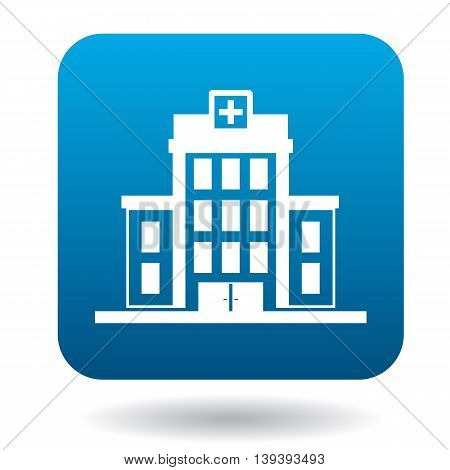 Hospital building icon in simple style isolated on white background