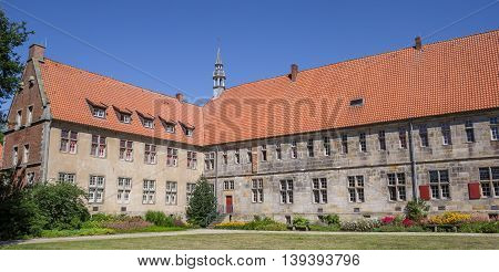 Panorama Of The Historical Frenswegen Monastery In Nordhorn
