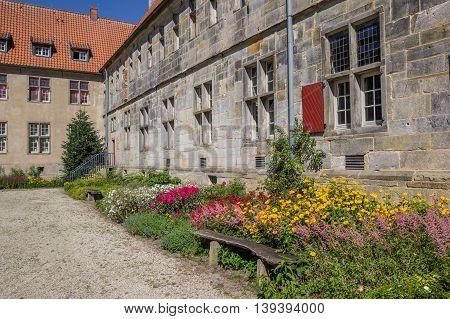 Bench In The Garden Of Monastery Frenswegen In Nordhorn