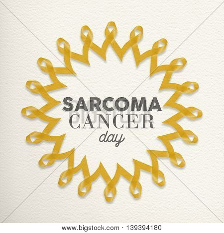 Sarcoma Cancer Day Awareness Design Made Of Ribbon