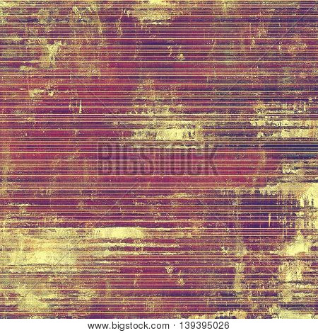 Grunge texture, scratched surface or vintage background. With different color patterns: yellow (beige); brown; gray; red (orange); purple (violet); pink