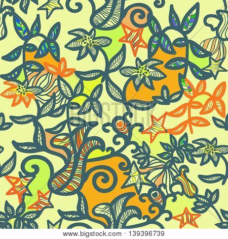 Seamless Pattern An Openwork Color. Vector Illustration