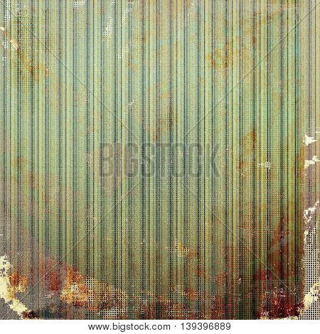 Oldest vintage background in grunge style. Ancient texture with different color patterns: yellow (beige); brown; gray; green; red (orange); cyan