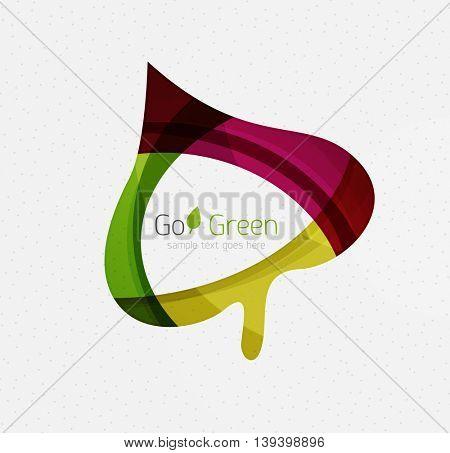 Green concept, geometric design eco leaf.