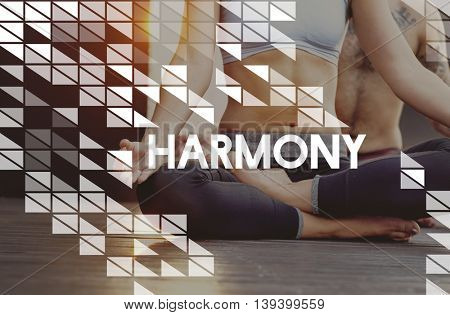 Fitness Exercise Yoga Health Workout Concept