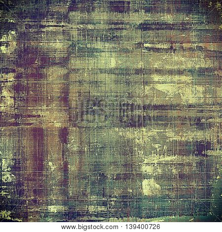 Scratched vintage texture, grunge style frame or background. With different color patterns: yellow (beige); brown; gray; green; purple (violet)