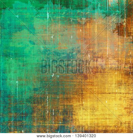 Grunge background for your design, aged shabby texture with different color patterns: yellow (beige); brown; green; blue; red (orange); cyan