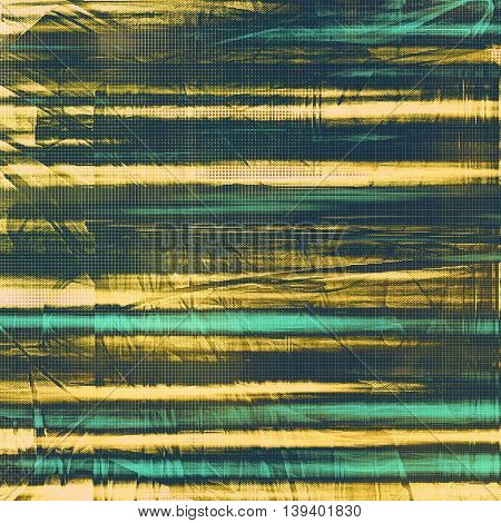 Retro abstract background, vintage grunge texture with different color patterns: yellow (beige); brown; black; blue; cyan