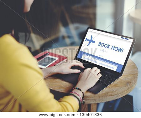 Book Now Traveling Transportation Website Concept
