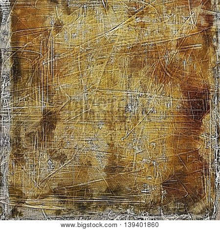 Art grunge background, vintage style textured frame. With different color patterns: yellow (beige); brown; gray
