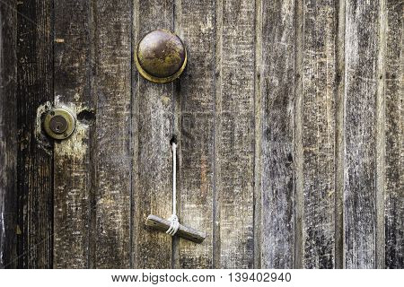Traditional Turkish style door closeup background, pattern