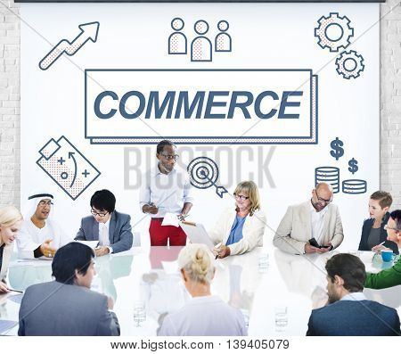 Commerce Business Network Exchange Graphic Concept