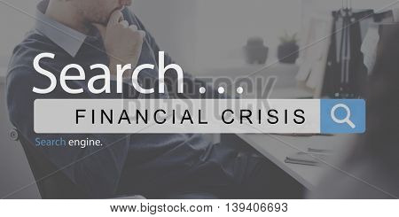 Financial Crisis Depression Problem Banking Concept
