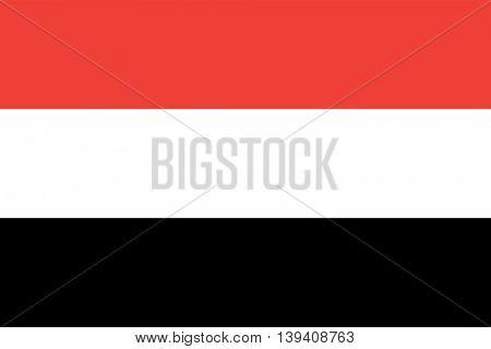 Vector The Republic of Yemen flag