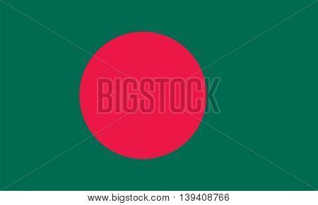 Vector Bangladesh flag