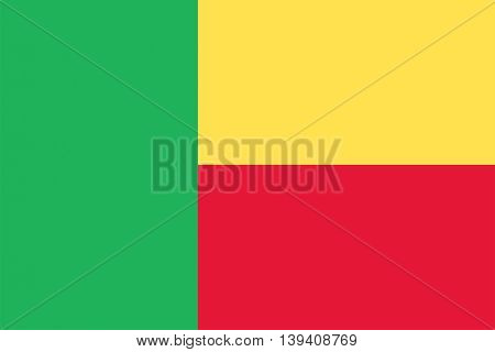Vector Republic of Benin flag