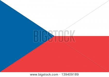 Vector Czech Republic flag