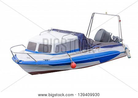 image of motor boat isolated on a white background