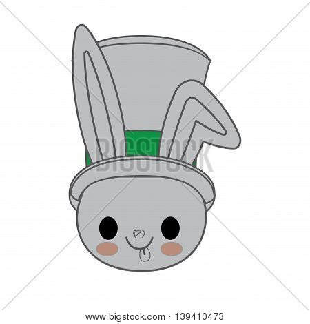 kawaii animal style with Christmas theme isolated icon design, vector illustration graphic