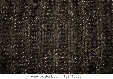 Colorful knitted fabric texture, for abstract background, black
